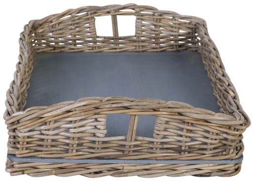 Block & Chisel kubu rattan basket tray