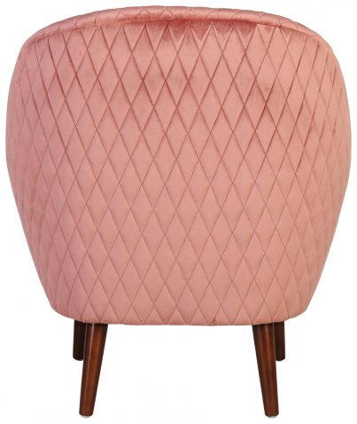 Block & Chisel pink velvet upholstered occasional chair with birch wood legs