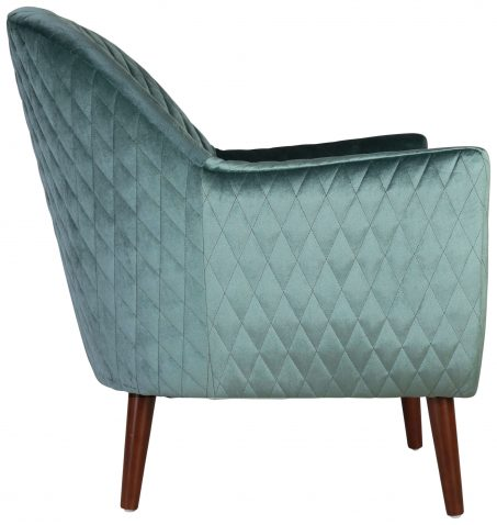 Block & Chisel teal velvet upholstered occasional chair with birch wood legs