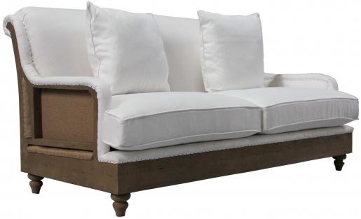 Block & Chisel white linen upholstered sofa