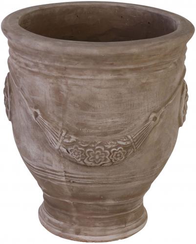 Block & Chisel brown terracotta pot