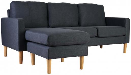 Block & Chisel charcoal upholstered corner sofa