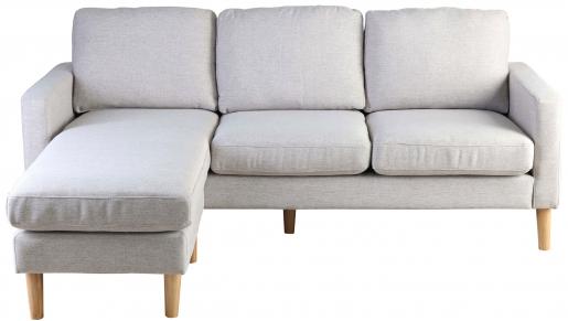 Block & Chisel linen upholstered corner sofa