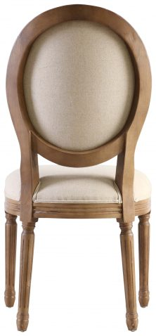 Block & Chisel linen upholstered spa back dining chair