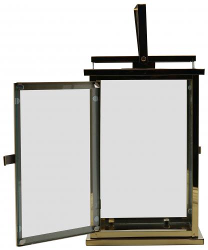 Block & Chisel golden stainless steel lantern