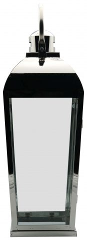 Block & Chisel stainless steel and glass lantern