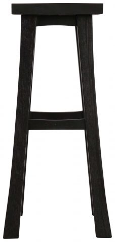 Block & Chisel black shinto barstool