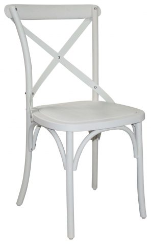 Block & Chisel white cross back dining chair