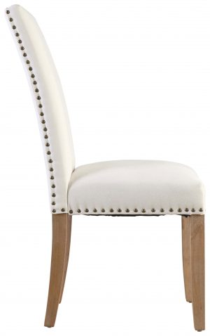 Block & Chisel cream velvet upholstered dining chair