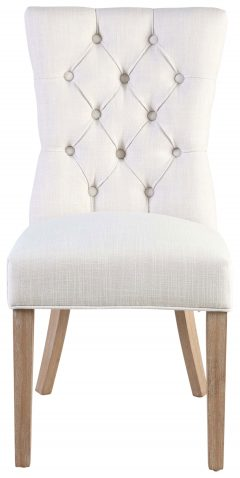 Block & Chisel cream linen upholstered dining chair