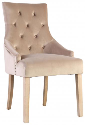 Block & Chisel velvet upholstered dining chair