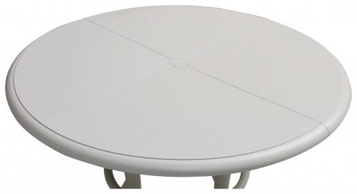 Block & Chisel round white nylon dining table