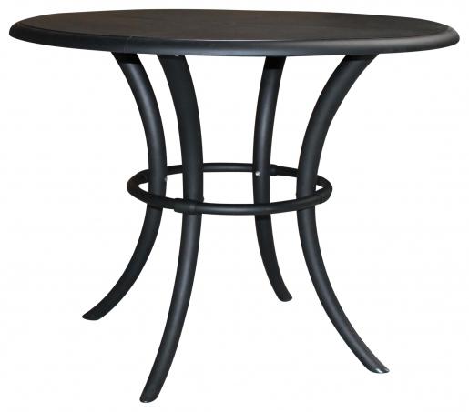 Block & Chisel round black nylon dining table