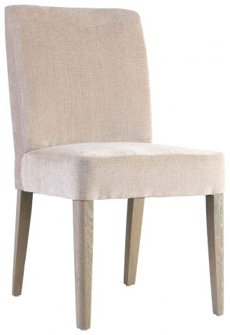 Block & Chisel beige cotton upholstered dining chair