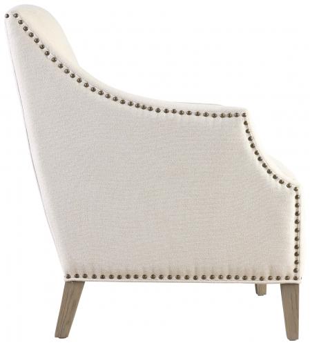 Block & Chisel beige velvet upholstered occasional chair