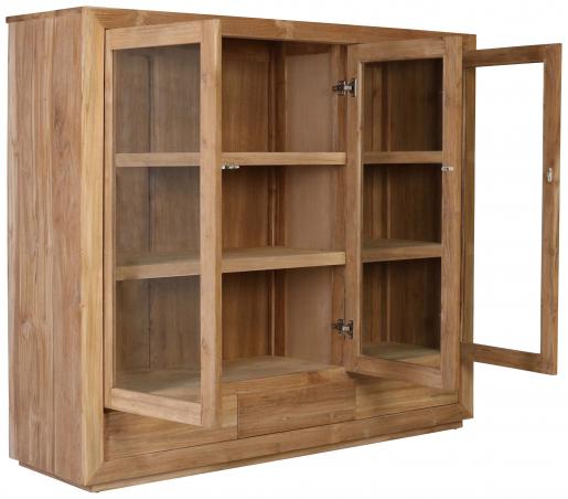 Block & Chisel teak wood sideboard with glass doors