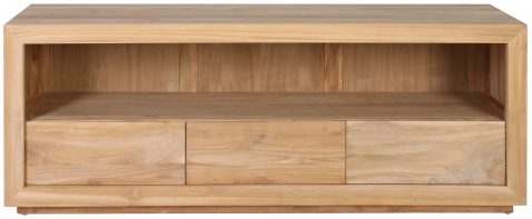 Block & Chisel teak wood tv stand
