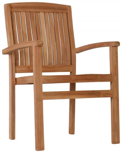 Block & Chisel teak wood dining chair