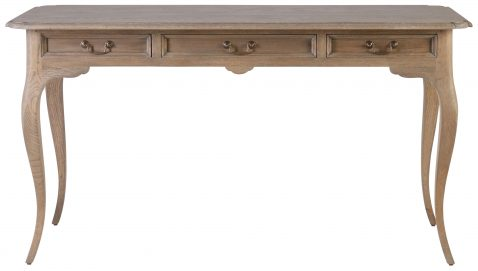 Block & Chisel solid railway oak writing table