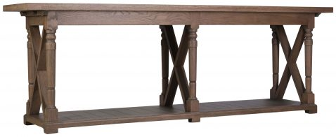 Block & Chisel solid railway oak server with lower shelf