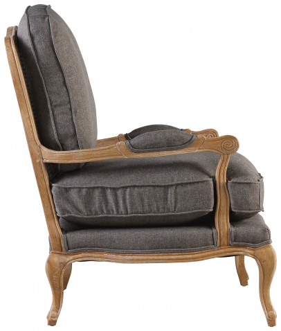 Block & Chisel charcoal upholstered french inspired armchair
