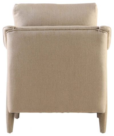 Block & Chisel linen upholstered occasional chair with oakwood legs