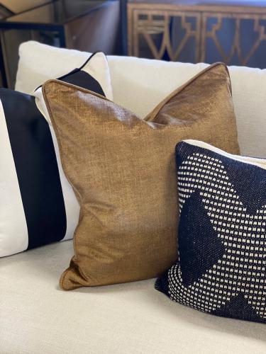 scatter cushion in bronze velvet
