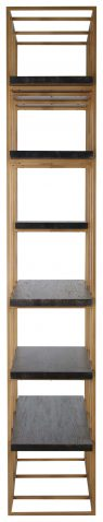 Block & Chisel 6-tier bookshelf