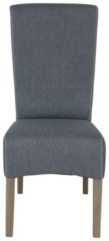 Block & Chisel blue grey upholstered dining chair
