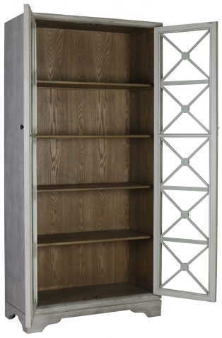 Block & Chisel wooden cabinet with glass doors