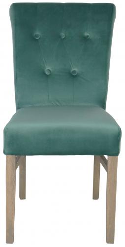 Block & Chisel teal velvet upholstered dining chair