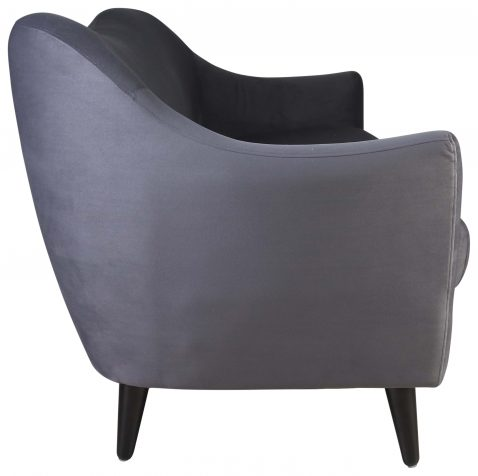 Block & Chisel grey upholstered wingback occasional chair