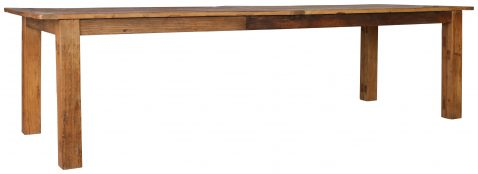 Block & Chisel rectangular recycled elm dining table