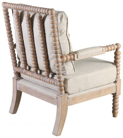 Block & Chisel beige upholstered lounge chair