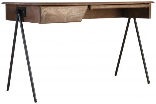 Block & Chisel rectangular wood desk with iron legs