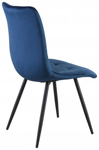 Block & Chisel navy blue velvet upholstered dining chair