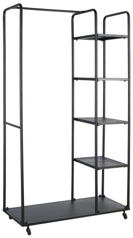 Block & Chisel iron stand with hanging and shelving space