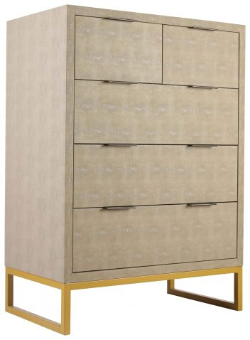 Block & Chisel 5 drawer tallboy with brass handles