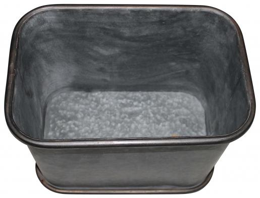 Block & Chisel galvanized zinc pot with handle