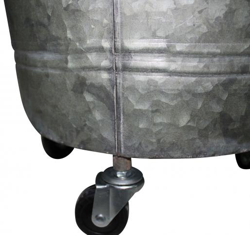 Block & Chisel galvanized zinc bucket with handle