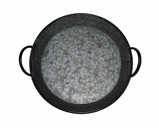 Block & Chisel galvanized zinc bowl with handles