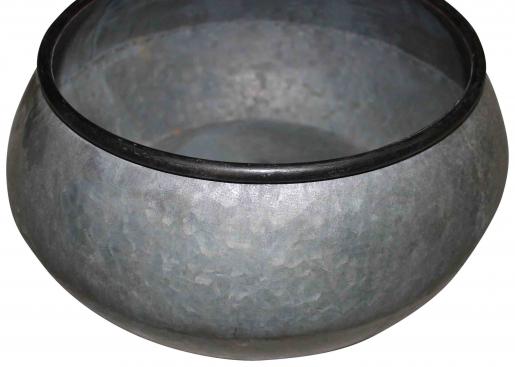 Block & Chisel galvanized zinc bowl