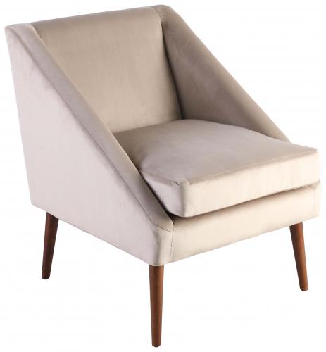 Block & Chisel champagne velvet upholstered occasional chair
