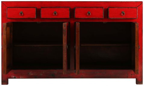Block & Chisel red wooden sideboard