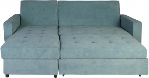 Block & Chisel green upholstered corner sofa