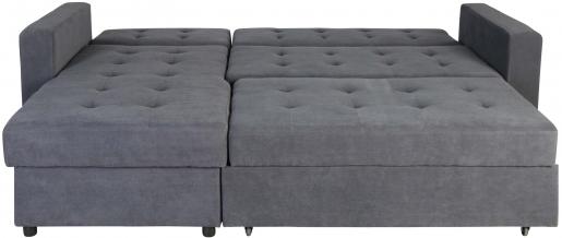 Block & Chisel grey upholstered corner sofa