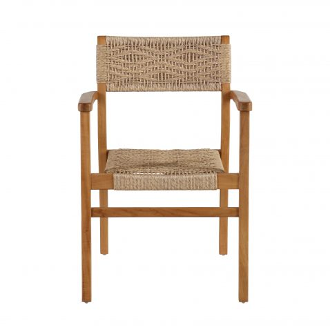 Block & Chisel armchair with teak frame