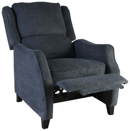 Block & Chisel charcoal velvet upholstered recliner