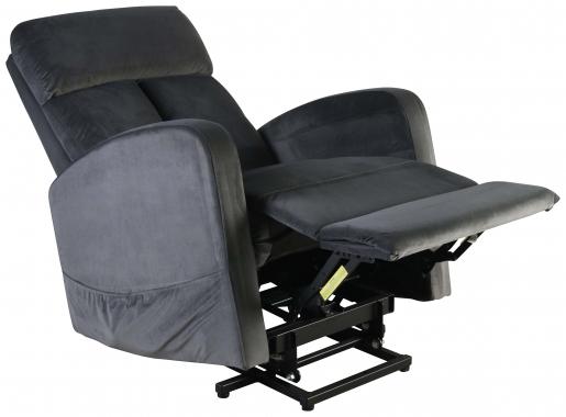 Block & Chisel grey velvet upholstered recliner