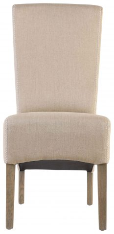 Block & Chisel linen upholstered dining chair